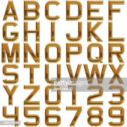 Gold alphabet (Extra Large Size!)