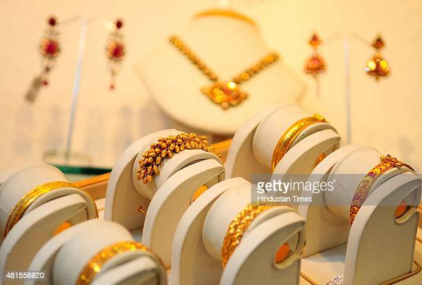 Gold and diamond jewellery shop in Defence Colony on August 9 2012 in New Delhi India