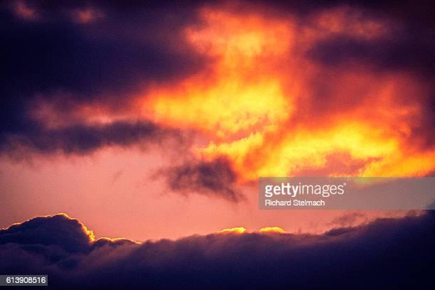 Gold and Purple, Split-Tone, Cross Processed Sunset