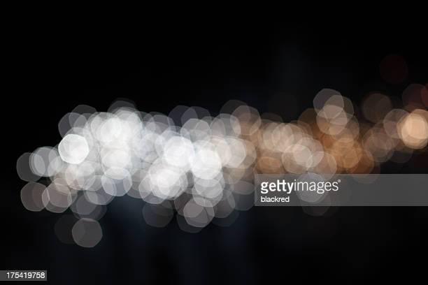 Silber und Gold Unscharf gestellt Lichter