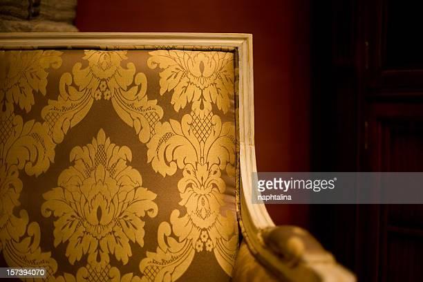 Gold armchair