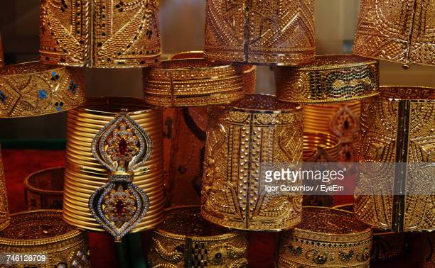 Gold Bangles For Sale At Market Stall