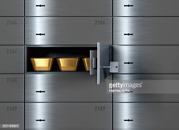 Gold Bars in Safe Deposit Box