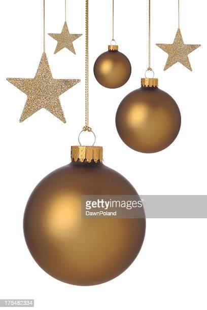 Or décorations et les étoiles