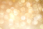 Gold Bokeh Background. The background with boke. Abstract texture. Color circles. Blurred