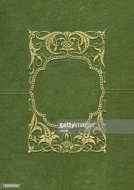 Gold Border on Green