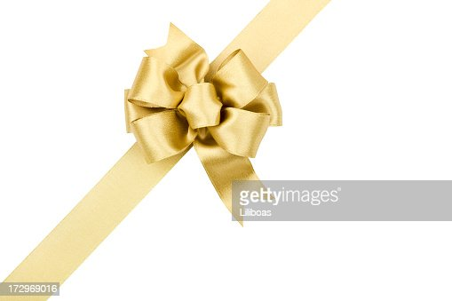 Gold Bow Gift (CLIPPING PATH) (XXL)