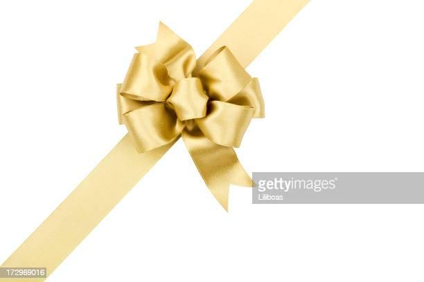 Goldene Schleife Geschenk (CLIPPING PATH) (XXL