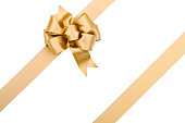 Gold Bow (Clipping path) XXL