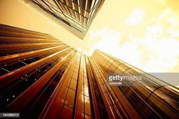 Gold Business District Skyscraper