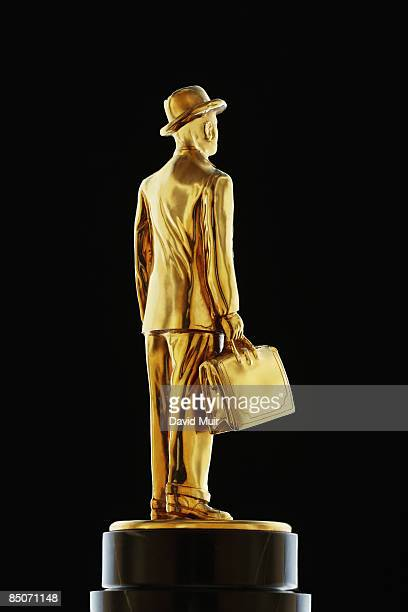 gold business man statue