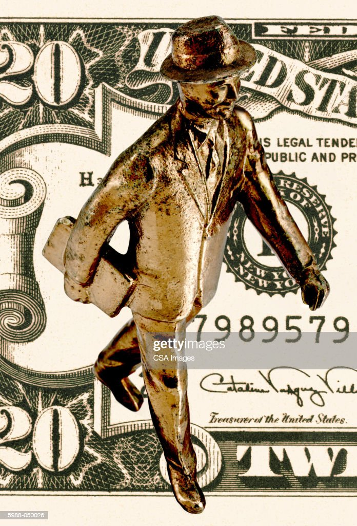 Gold Businessman Figurine : Stock Photo