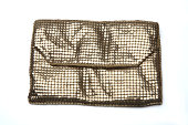 Gold change purse, close up