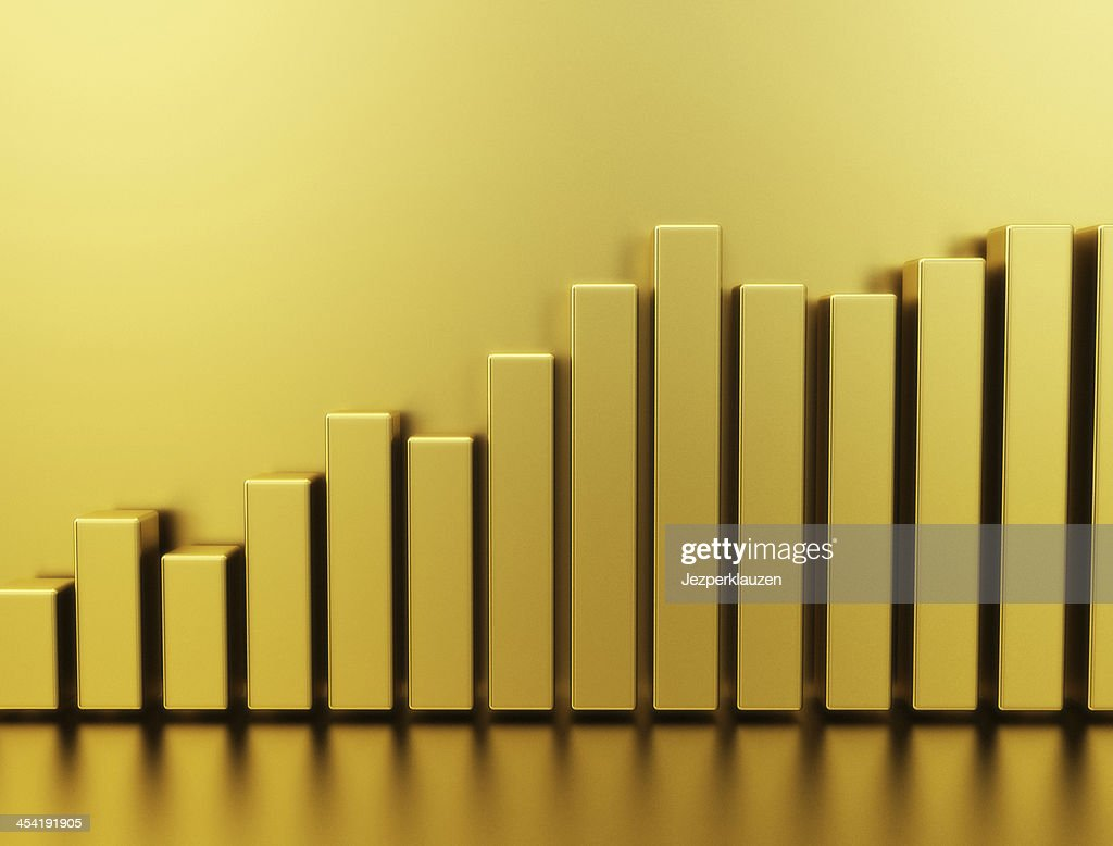 Gold Chart Graph : Stock Photo