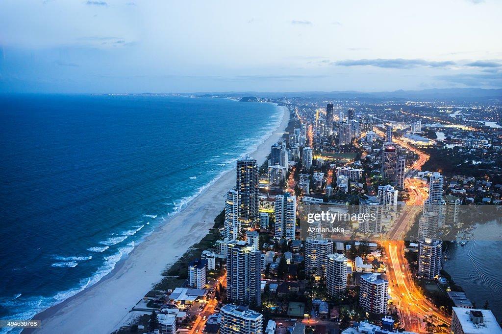 Gold Coast at night