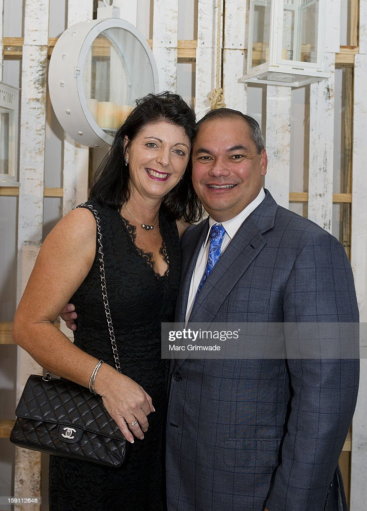 Gold Coast Lord Mayor Tom Tate and his wife Ruth Tate during the Magic Millions Opening Night cocktail party at Surfers Paradise on January 8, 2013 in Surfers Paradise, Australia.