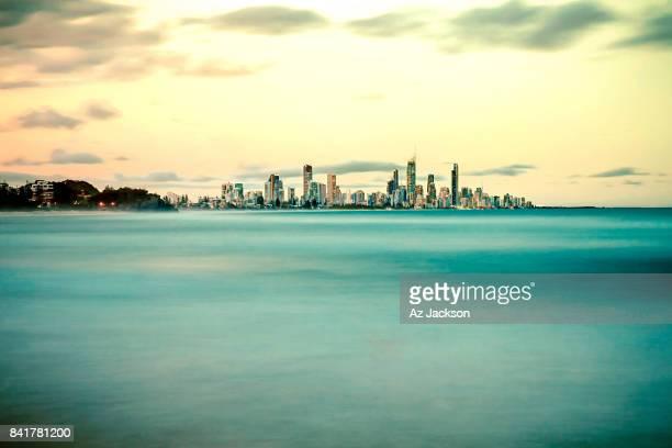 Gold Coast skyline at dusk