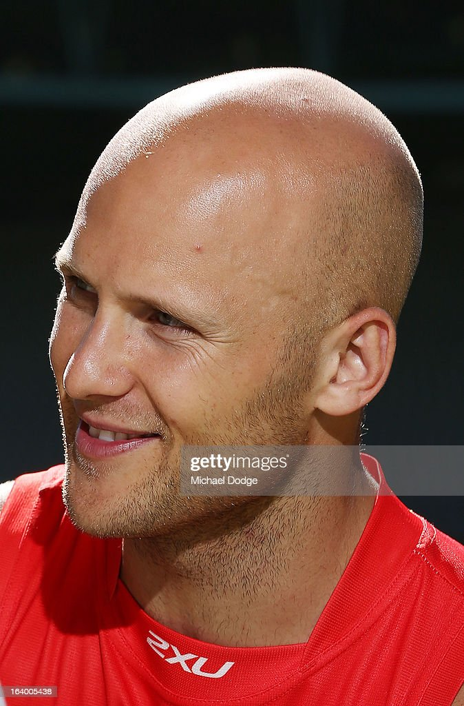 Gold Coast Suns captain Gary Ablett looks ahead during the AFL Captains media Day at Etihad Stadium on March 19, 2013 in Melbourne, Australia.