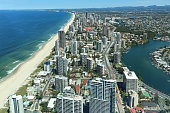View over Surfers Paradise beaches