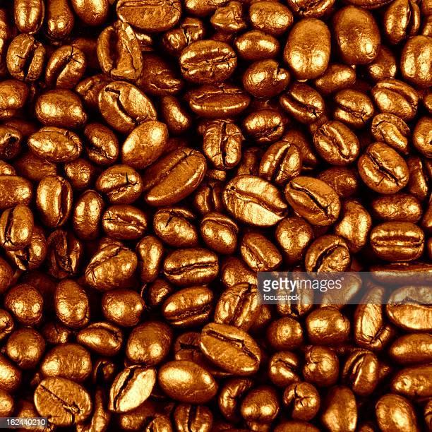 Kaffee-Hintergrund mit Gold