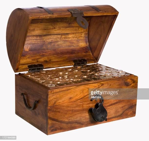 1 $pièce d'or boîte avec un Tracé de détourage