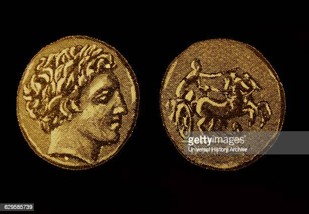 Gold coin of Philip II Of Macedon King of the Ancient Greek kingdom of Macedon