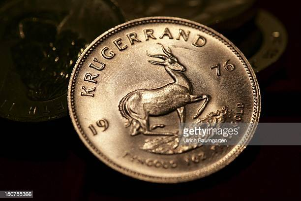 GERMANY MUNICH gold coin Oour picture shows the Kruegerrand 1 oz fine gold Suedafrika