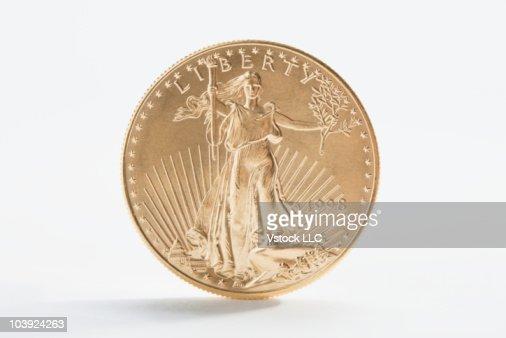 A gold coin