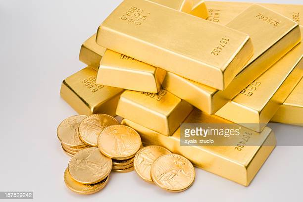 Gold Coins and Ingots.