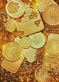 Gold Coins, Bars and Nuggets