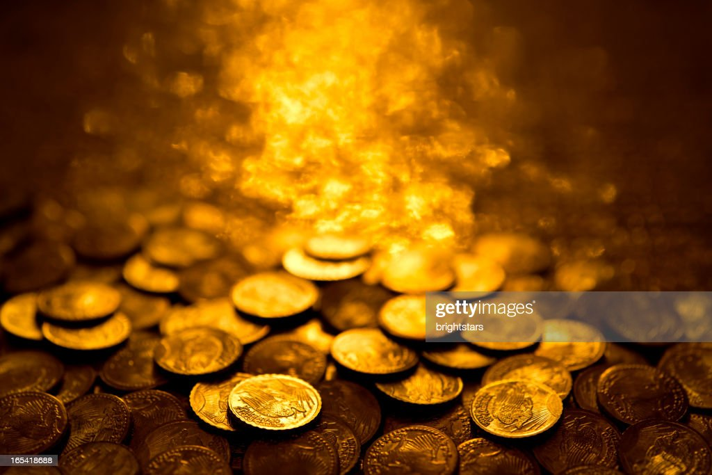 Gold coins : Stock Photo