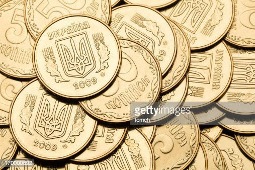 Gold color coins : Stock Photo