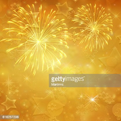 Gold colored holiday background : Stock Photo