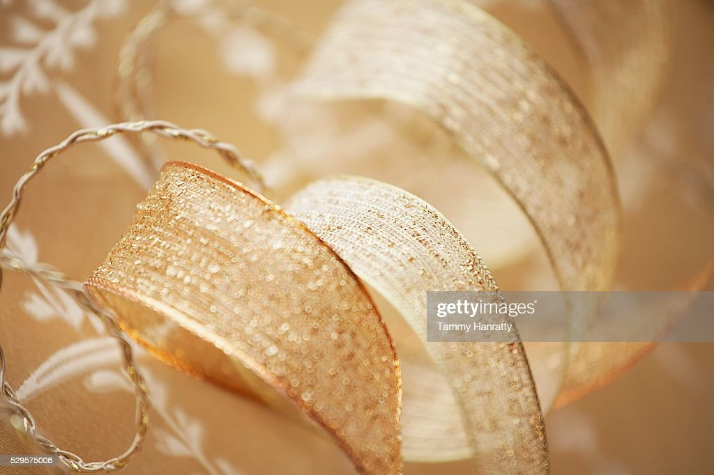 Gold Colored Ribbon : Photo