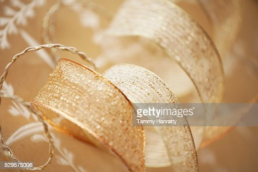 Gold Colored Ribbon : Stock Photo