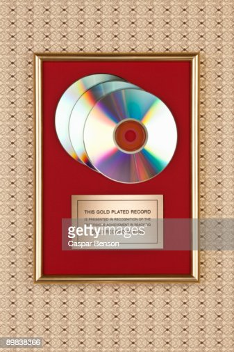 Gold compact disc award