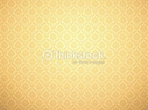 Gold damask pattern background : Stock Photo