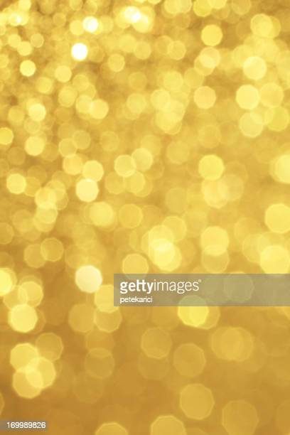 Gold Defocused Glitter