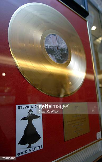 Gold Disc belonging to Stevie Nicks is displayed at Christies before auction on April 26 2007 in London England