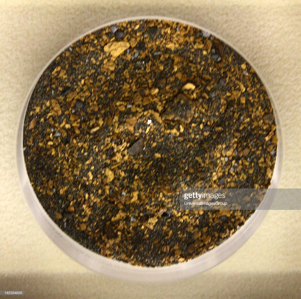 Gold dust among other heavy minerals. Mawddach river, Gwynedd, Wales.