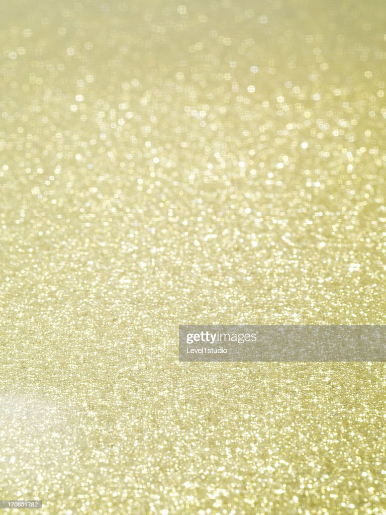 Gold dust spangled densely