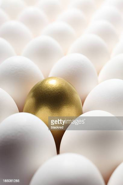 Gold Egg in the Middle of Many Regular Eggs