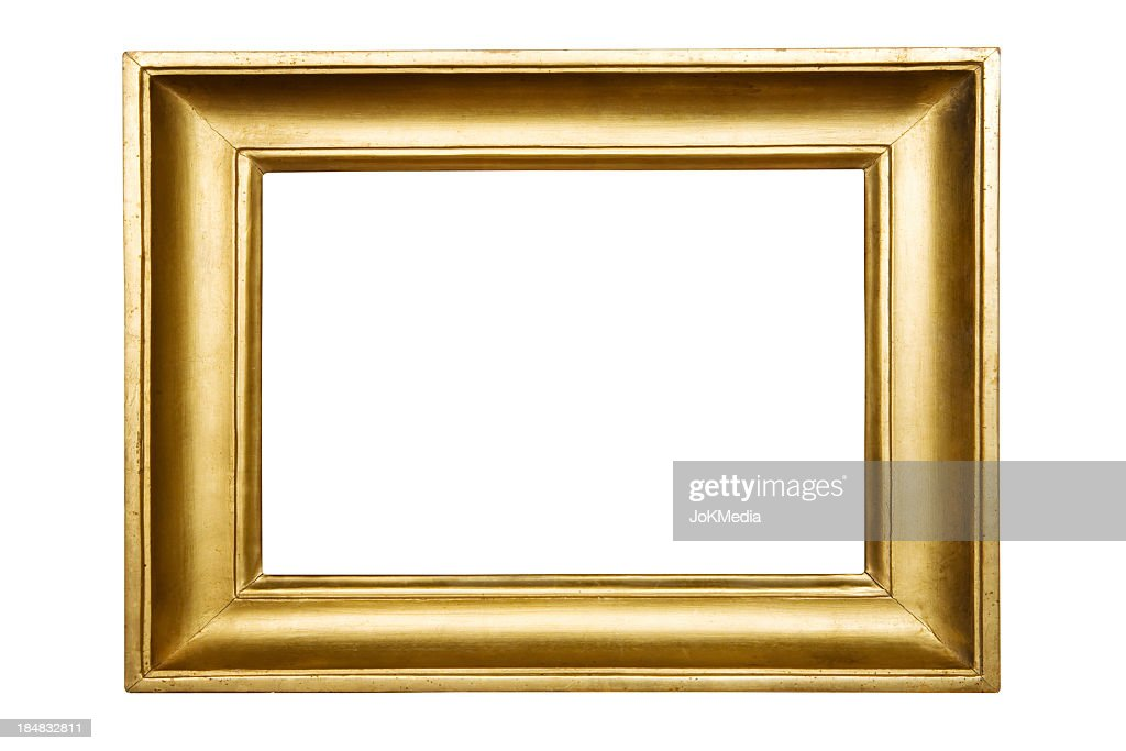 Gold Plated Picture Frame (Clipping Path Included)