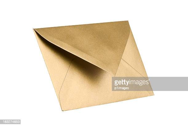Gold envelope with clipping path