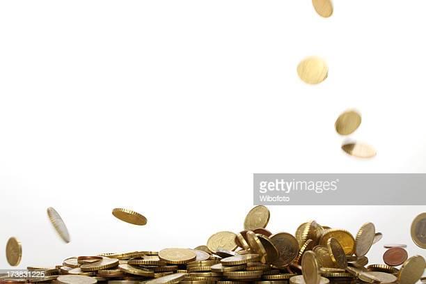 Fallenden Münzen.