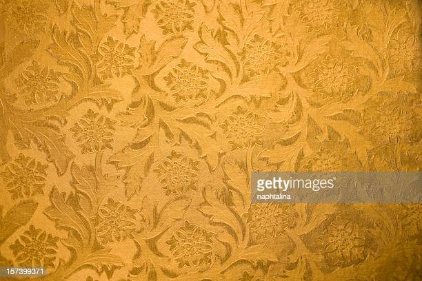 Gold flowers texture