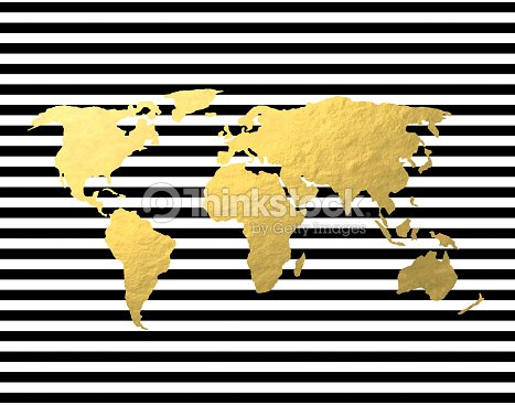Gold foil world map on black stripe stock photo thinkstock gold foil world map on black stripe stock photo gumiabroncs Choice Image
