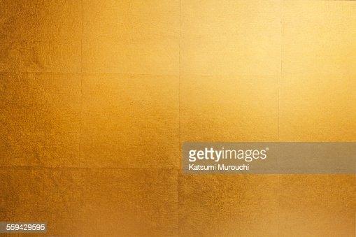 Gold folding screen paper