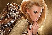 Gold Glamour Portrait