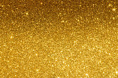 Gold Glitter Background with Star.